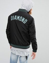 Diamond Supply Co. Bomber Jacket With Embroidered Logo Black