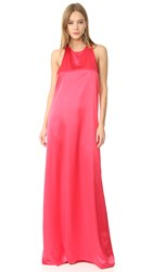 Baja East Sleeveless Maxi Dress Fuchsia