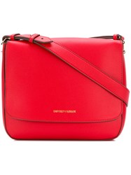 Emporio Armani Large Messenger Bag Red