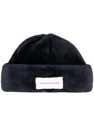 Alexander Wang Ribbed Beanie Hat Black