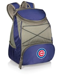 Picnic Time Chicago Cubs Ptx Backpack Cooler Blue Gray