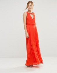 Jovonna Sonoma Maxi Dress With Cut Out Back Orange