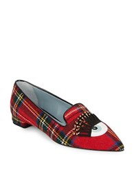 Chiara Ferragni Winking Eye Smoking Flats Red