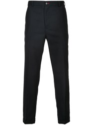 Guild Prime Classic Cropped Trousers Polyester Lambs Wool Black