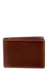 Boconi Men's 'Bryant' Leather Rfid Wallet Brown Antique Mahogany