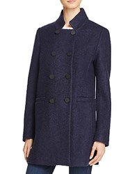 T Tahari Harper Double Breasted Front Coat Navy