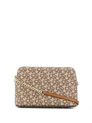 Dkny Bryant Logo Dome Crossbody Bag Neutrals