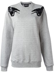 Markus Lupfer Sequin Bird Sweatshirt Grey
