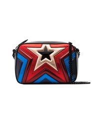 Stella Mccartney Multicoloured Star Quilted Vegan Leather Bag Black