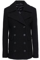 Mcq By Alexander Mcqueen Woman Double Breasted Brushed Wool Felt Coat Black