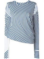 Maison Martin Margiela Mm6 Striped Blouse Blue