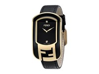 Fendi Timepieces Chameleon Enamel 29X49mm Yellow Gold Black Watches