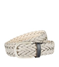 Harrods Of London Braided Belt Unisex Stone