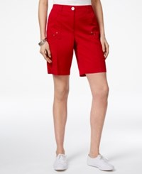 Karen Scott Curved Pocket Shorts Only At Macy's New Red Amore