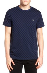 Fred Perry Men's Checkerboard Print T Shirt