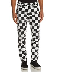 G Star Raw 5639 3D Shepherd's Check New Tapered Fit Canvas Pants 100 Bloomingdale's Exclusive Black And White Shepherd's Check