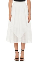 Nicholas Women's Geometric Jacquard Skirt White