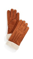 Agnelle Curly Gloves Tan
