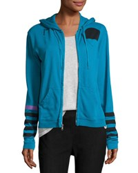 Freecity Super Woman Zip Front Hoodie Blue