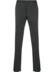 Corneliani Straight Leg Tailored Trousers Grey
