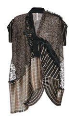 Antonio Marras Short Sleeve Cardigan Black Gold White