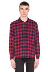 Obey Raymond Button Down Red