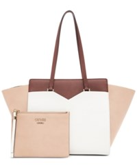 Guess Bryanna 2 In 1 Privy X Large Tote A Macy's Exclusive Style Nude Multi