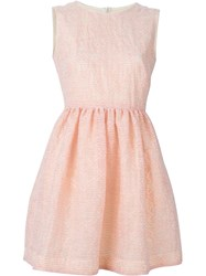 Red Valentino Stripe Mini Dress Pink And Purple