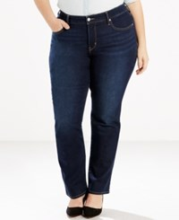 Levi's Plus Size 314 Shaping Straight Leg Jeans Vast Sky