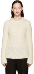 Raf Simons Ivory Mohair Roundneck Sweater