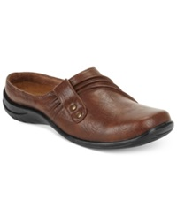 Easy Street Shoes Easy Street Holly Comfort Clogs Women's Shoes Tan