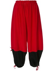 Y's Contract Balloon Trousers Red