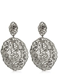Aurelie Bidermann Lace Dentelle Earrings Black