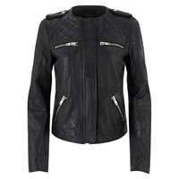 Selected Femme Women's Isabello Leather Jacket Black