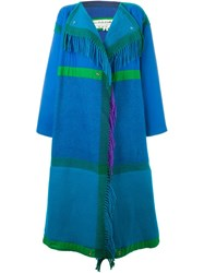 Jc De Castelbajac Vintage Two Way Oversized Coat Blue