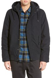 Men's Quiksilver 'Brooks' Hooded Canvas Jacket Anthracite
