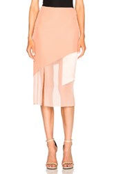 Prabal Gurung Charmeuse Skirt In Pink