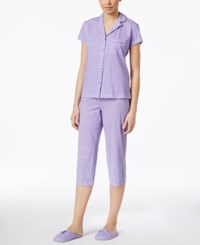 Charter Club Pajama Set With Slippers Only At Macy's Purple Geo
