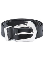 Paige Silver Tone Hardware Belt Black