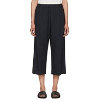 6397 Navy Wide Leg Pull On Trousers
