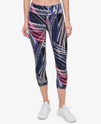 Tommy Hilfiger Sport Printed Cropped Leggings A Macy's Exclusive Style Rinse Denim