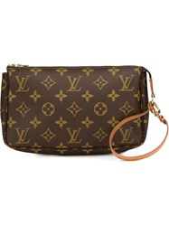 Louis Vuitton Vintage Monogram Pouch Bag Brown