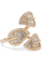 Anita Ko Tri Leaf 18 Karat Rose Gold Diamond Ring 6
