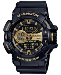 G Shock Men's Analog Digital Chronograph Black Resin Strap Watch 55X52mm Ga400gb 1A9 Gold
