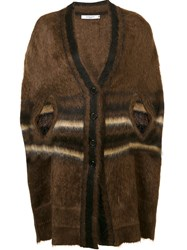 Givenchy Striped Cardi Cape Brown