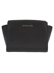 Michael Michael Kors 'Selma' Medium Messenger Bag Black