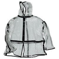 Heisel Rain Coat Clear With Black