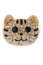 Stella Ruby Cat Stretch Ring Metallic