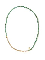 Jade Jagger Diamond Emerald And Yellow Gold Necklace Green