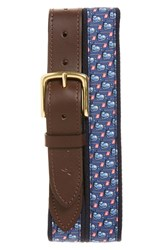 Men's Vineyard Vines 'Golf Bags' Canvas And Leather Belt